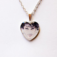 "Special Agent Will Graham (Hugh Dancy) with Mask from Television Series ""Hannibal"" - Handmade Heart Cameo Pendant Necklace"