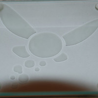 Set of 4 The Legend of Zelda Etched Glass Coasters