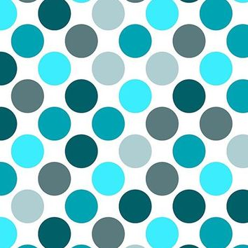 Shades of Teal Polka Dots Photo Background / 1221