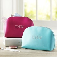 Girls Classic Leather Beauty Pouch