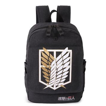 Cool Attack on Titan Japanese Anime  Backpack for Teenagers Boys Canvas Cartoon Schoolbag for Teenage Girls Campus Bookbag Mochila AT_90_11