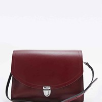 The Cambridge Satchel Company Large Push-Lock Bag in Burgundy - Urban Outfitters
