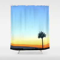 Panorama Palm Shower Curtain by Nina May