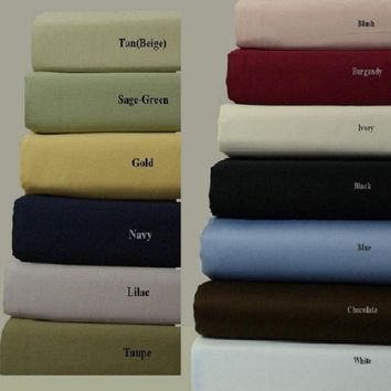Split King 600 Thread count Solid 100% Combed cotton sheet sets