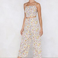 Off You Grow Floral Top and Pants Set