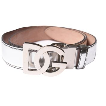 Dolce & Gabbana Women's Leather Buckle Belt | Bluefly