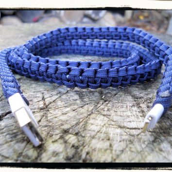 New!!! SLIM iPhone Paracord Wrapped Charger