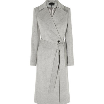 LONG FITTED WOOL COAT