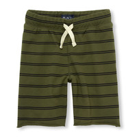 Boys Matchables Printed Terry Knit Shorts | The Children's Place