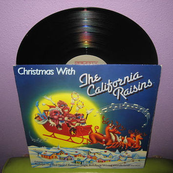 Rare Vinyl Record Christmas with The California Raisins LP 1988 Holiday Classics Claymation
