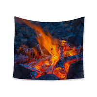 "KESS Original ""Red Hot"" Blue Orange Wall Tapestry"
