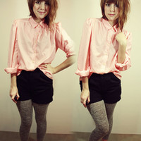 Coral Long Sleeve Blouse M | Sam Wish