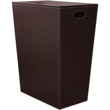 Kin Ecopelle Large Hamper Laundry Basket With Lid - Synthetic Leather