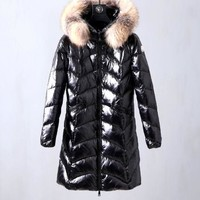 Moncler Women fashion down jacket Black