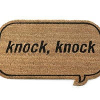 KNOCK KNOCK DOORMAT | Knock-Knock, Knocks, Door, Mats, Welcome, Front, Door, Porch | UncommonGoods