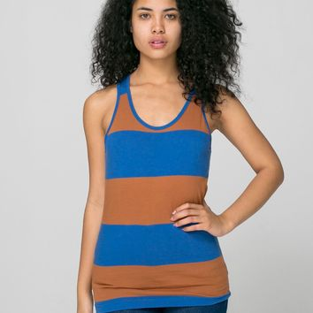 rsaws408dlw - Unisex Cotton Wide Stripe Jersey Tank