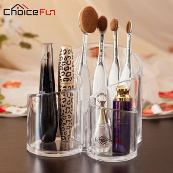 CHOICE FUN New Arrival Multiple Durable Clear Acrylic Cosmetic Jewelry Makeup Brush Organiser Box Case Stand Organizer SF-243674