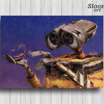 the cockroach and wall-e print pixar art disney gifts nursery wall art