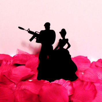 Cinderella and her Brave Solider Cake Topper
