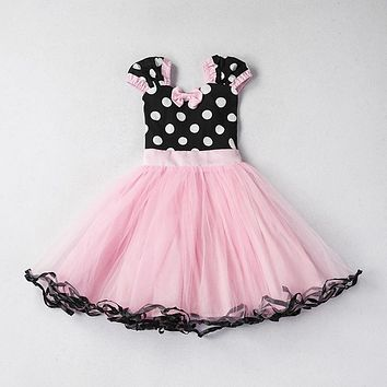 Cute Little Dress For Baby Girls Tutu Dots Dresses Kids Birthday Fashion Clothing Christmas Wedding Party Child's 1-5T Princess