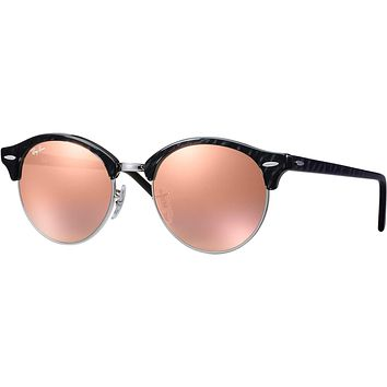 Ray Ban Round Clubmaster Clubround Sunglasses Black Copper Flash RB 4246 1197Z2