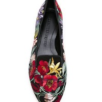 Alexander Mcqueen Floral Embroidered Slippers - Vitkac - Farfetch.com