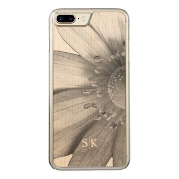 Sassy Texas Spring Windflower Monogram Floral Carved iPhone 7 Plus Case
