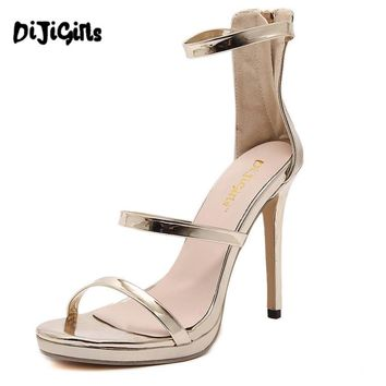 2017 Gold Silver Nude Black Celebrity Brand New Desiger Womens Bridesmaid Bridal Wedding Pumps Strappy Open Toe Sandals Heels