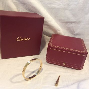 Cartier Love Bracelet Rose Gold Size 16 (New Screw System) OVERNIGHT SHIPPING