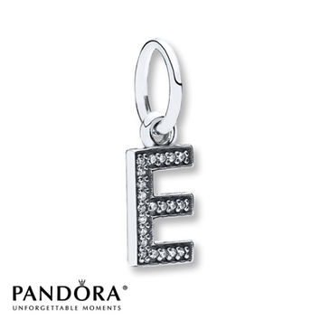 Pandora Dangle Charm Letter E Sterling Silver