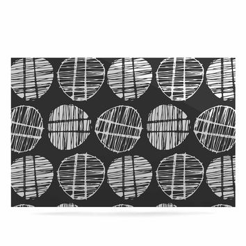 "Gill Eggleston ""Sketched Pods Carbon"" Black White Abstract Modern Digital Vector Luxe Rectangle Panel"