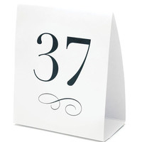 Chic Table Number Tent Cards (Set of 12)