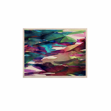 "Ebi Emporium ""Fervor 4"" Magenta Abstract KESS Naturals Canvas (Frame not Included)"