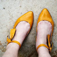 Sunny handmade leather flats MADE to your MEASUREMENTS by chebran