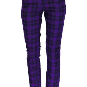 Jist Checked Purple & Black Skinny Jeans - Buy Online at Grindstore.com