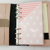 Planner Folder Pockets. Personal, Pocket, A5 + Half Letter. Any divider pattern or custom if you want a specific color