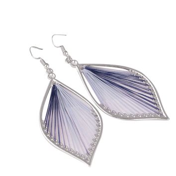 *Online Exclusive* Geometric String Art Teardrop Earrings