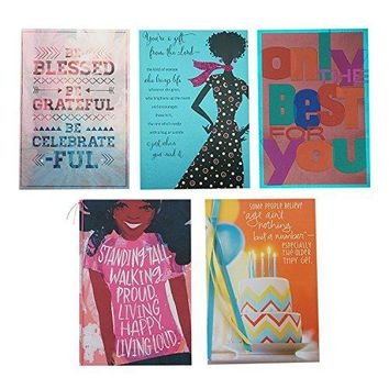 Hallmark Mahogany 5 Birthday Cards Assortment, Funny Birthday Card - Free Shipping