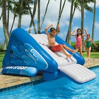 """Intex Water Slide Inflatable Play Center, 135"""" X 81"""" X 50"""", for Ages 6+"""