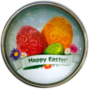 Happy Easter Egg Snap Charm-20mm for Snap Jewelry
