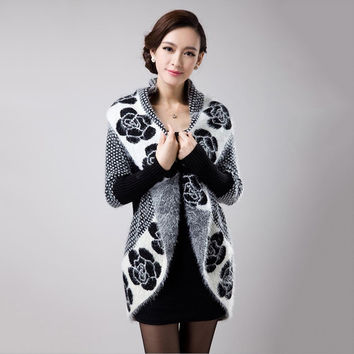 Women Cardigan 2016 Casual Knitted Wool Sweater Coats Fashion Autumn Winter Long Sleeve Elegant Female Cardigans S1244