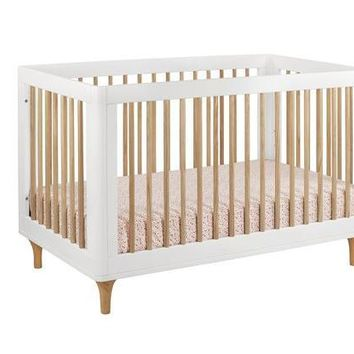 Babyletto Lolly 3-In-1 Convertible Crib With Toddler Bed Conversion Kit, White/Washed