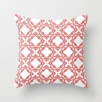 Floral pattern Throw Pillow by g-man