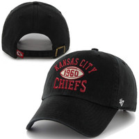 47 Brand Kansas City Chiefs Backfield Clean Up Adjustable Hat - Black