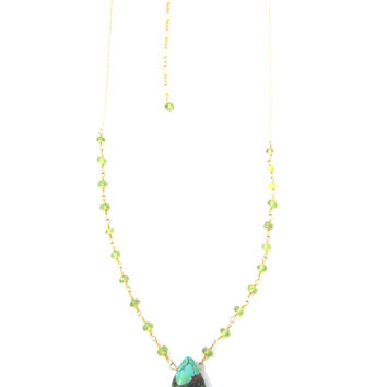 Turquoise and Peridot Necklace