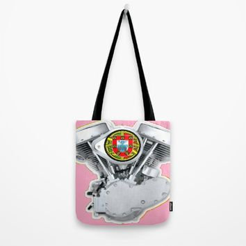 Portuguese Panhead Hot Pink. Tote Bag by Tony Silveira