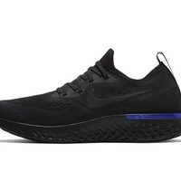 Nike Epic React Flyknit Triple Black Racer Blue - Limited Edition