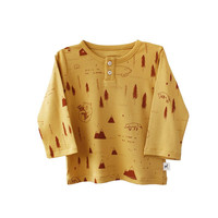 Winter Story Mustard Long Sleeve Baby Tee
