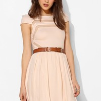 Ladakh Moondance Sheer-Inset Fit + Flare Dress - Urban Outfitters