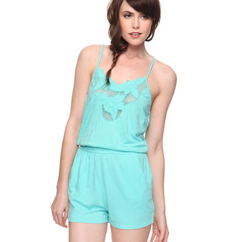 Floral Embroidered Knit Romper | FOREVER21 - 2000012970